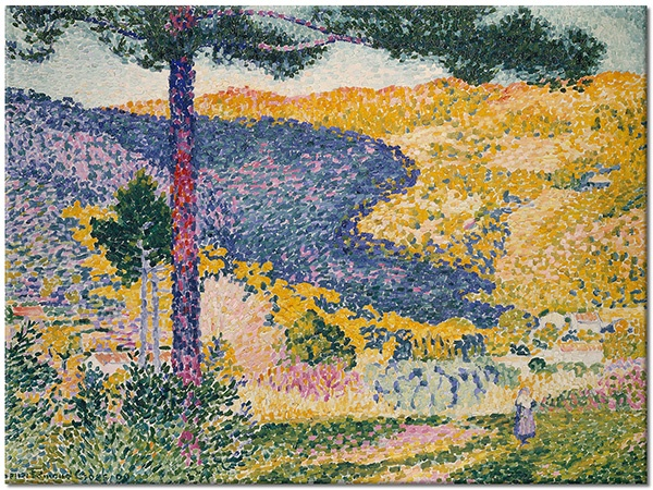 Tablou canvas: Bradul din vale, Henri Edmond Cross, tablou imprimat