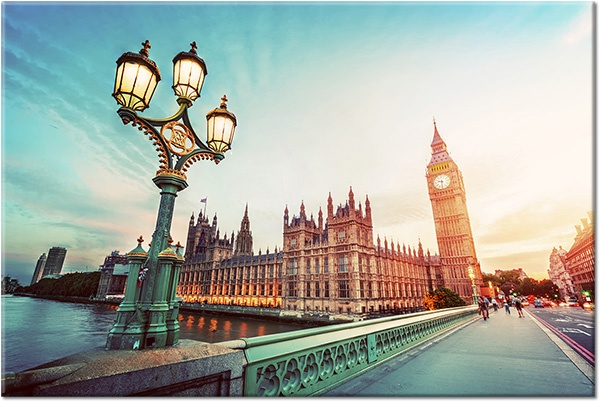 Tablou canvas: Podul Westminster Big Ben Londra